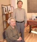 Chiyoko and Tadao Yamaguchi at the Jikiden Reiki Institute in Kyoto, Japan